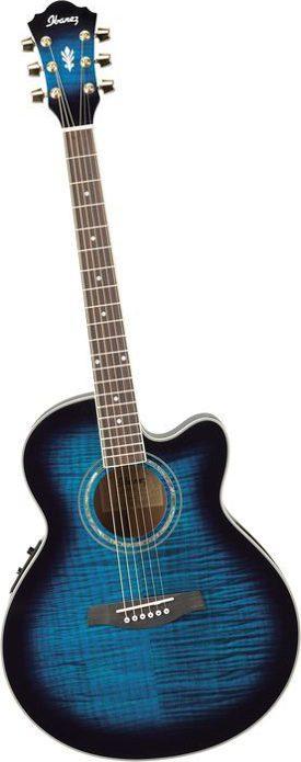 Ibanez blue guitar sm