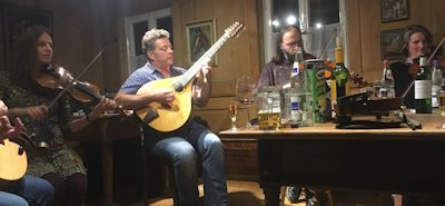 Picture 4 10 string bass bouzouki anchoring the upstairs session