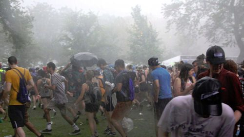 bad weather at music festival