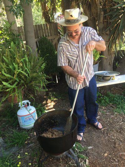 ben guzman cooking pork black pot