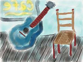 blue guitar painting sm