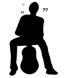 man with guitar silhouette questions