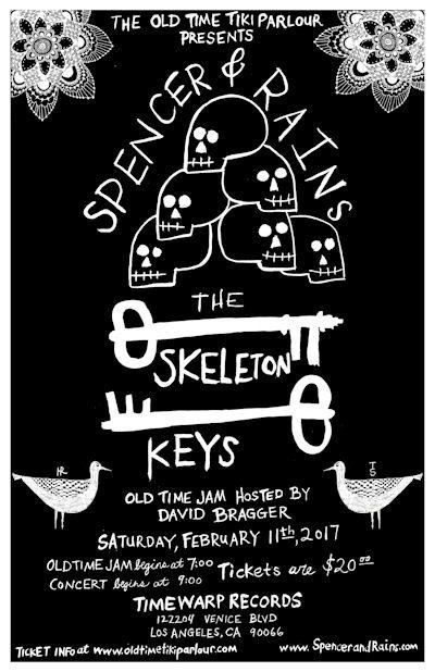spencer-rains - skeleton keys concert poster