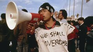 tiananmen square - we shall overcome