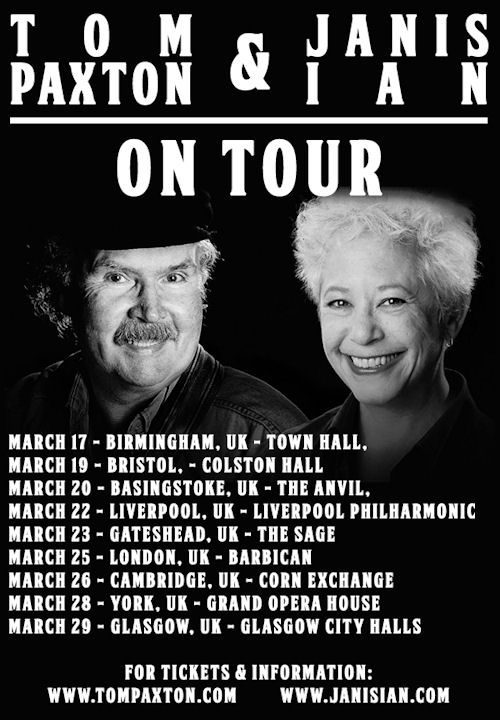 Tom Paxton - Janis Ian poster